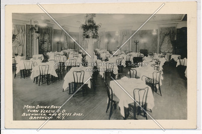 Main Dining Room, Turn Verein, Bushwick & Gates Aves., BK.