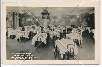 Main Dining Room, Turn Verein, Bushwick & Gates Aves., BK.