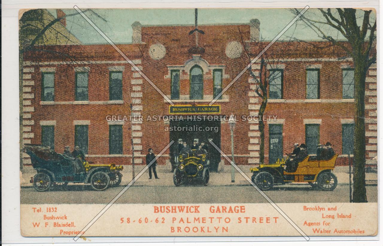 Bushwick Garage, Palmetto Street, BK.