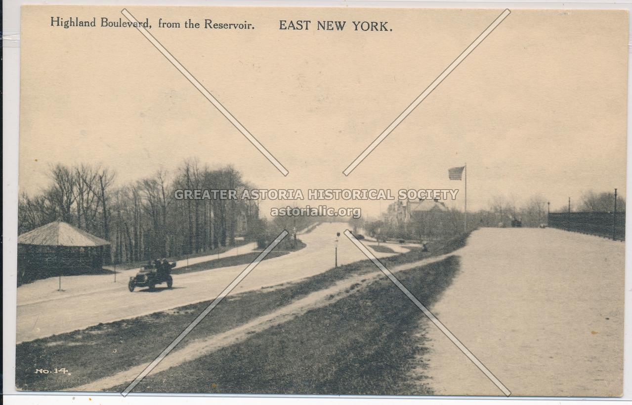 Highland Boulevard, from the Reservoir, East New York, BK.
