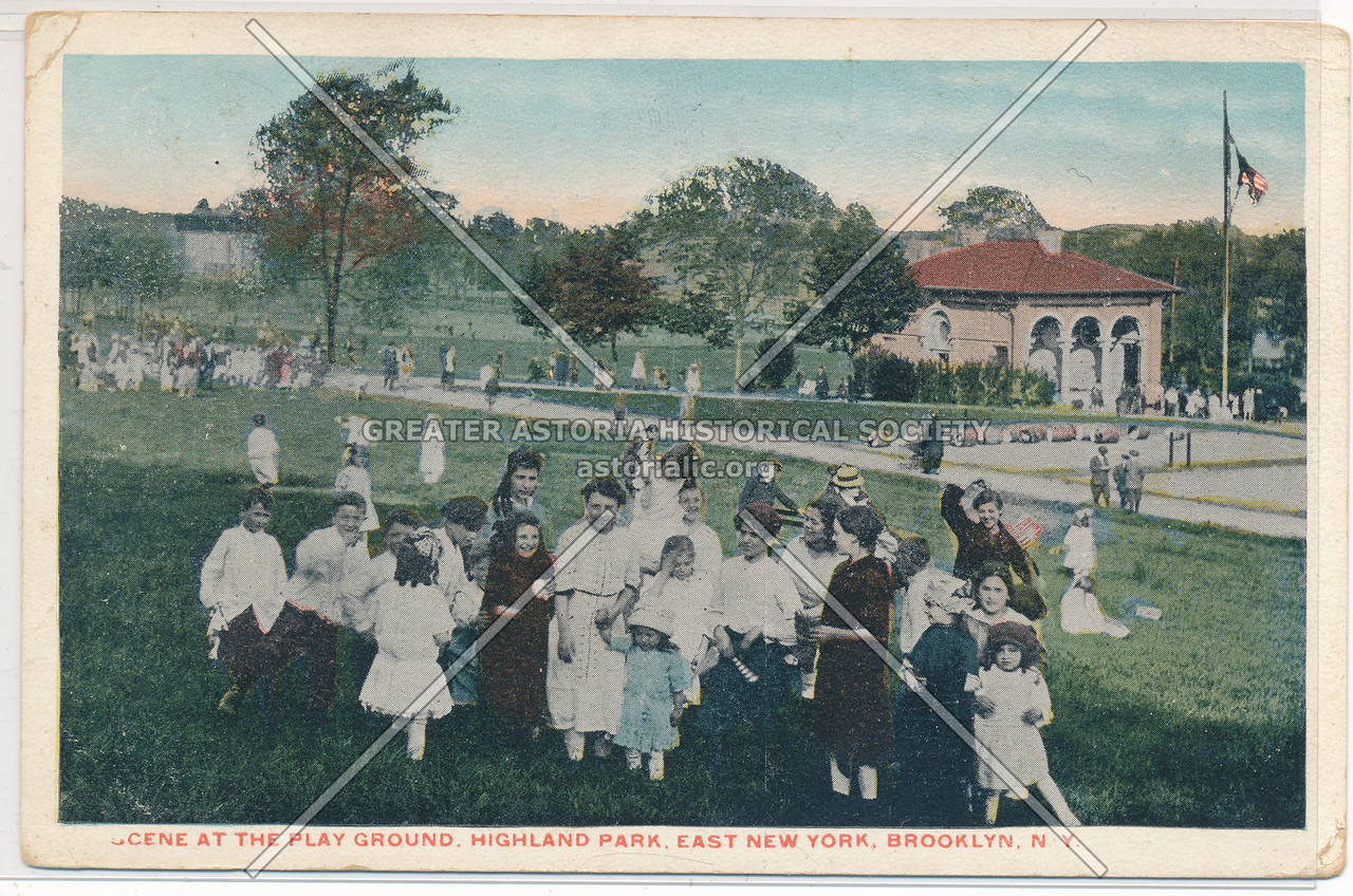 Scene at the Playground, Highland Park, East New York, BK.