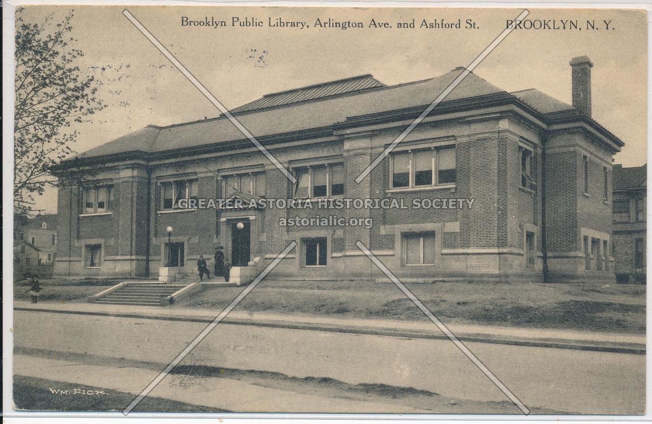 Brooklyn Public Library, Arlington Ave & Ashford St., BK.