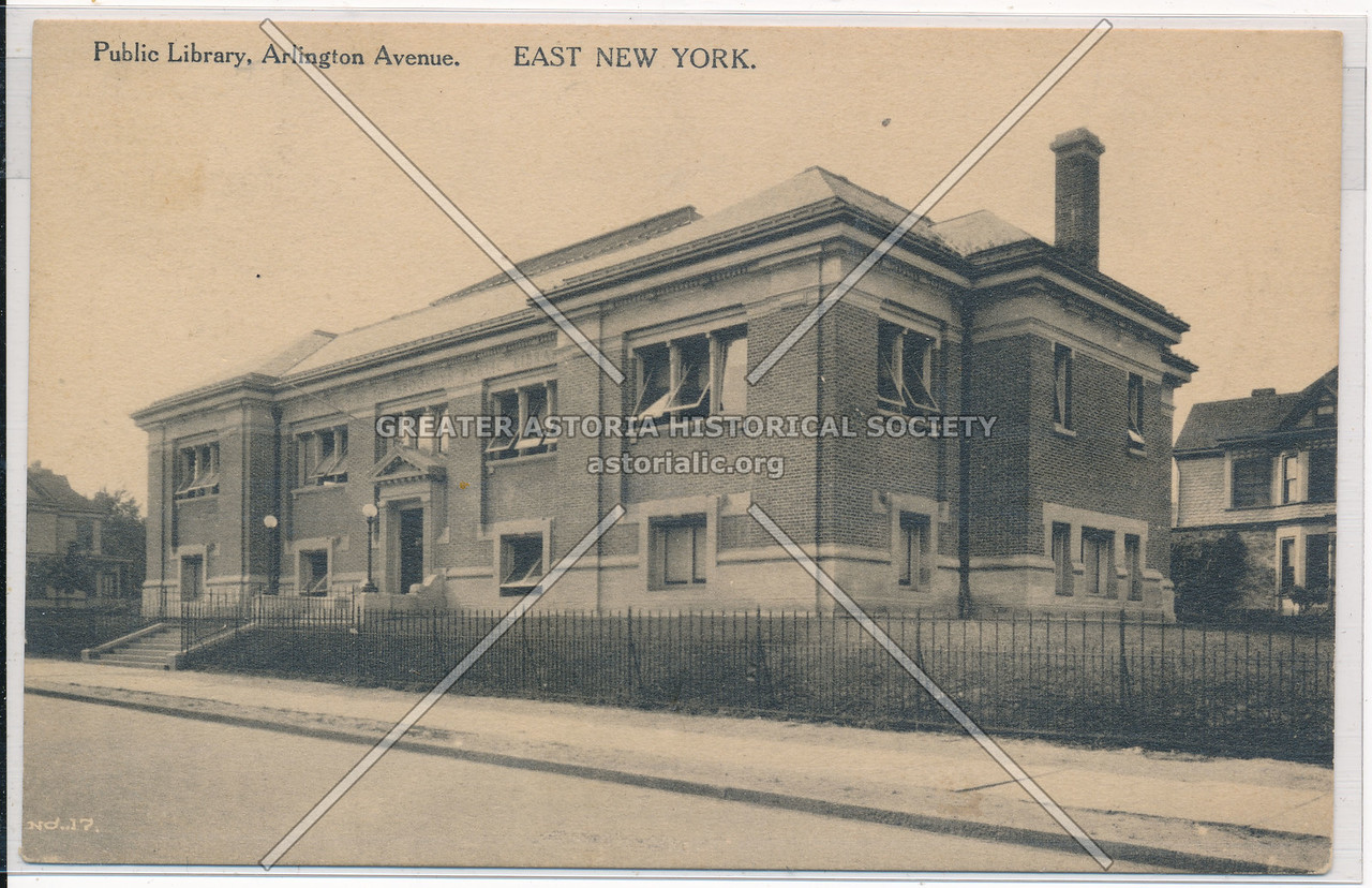 Public Library, Arlington Avenue, East New York, BK.