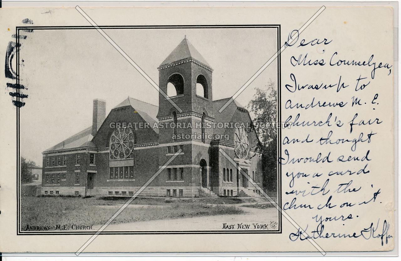 Andrew's M.E. Church, East New York, BK.