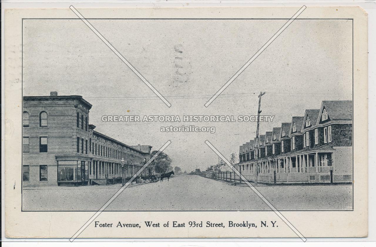 Foster Avenue, West of East 93rd Street, BK.