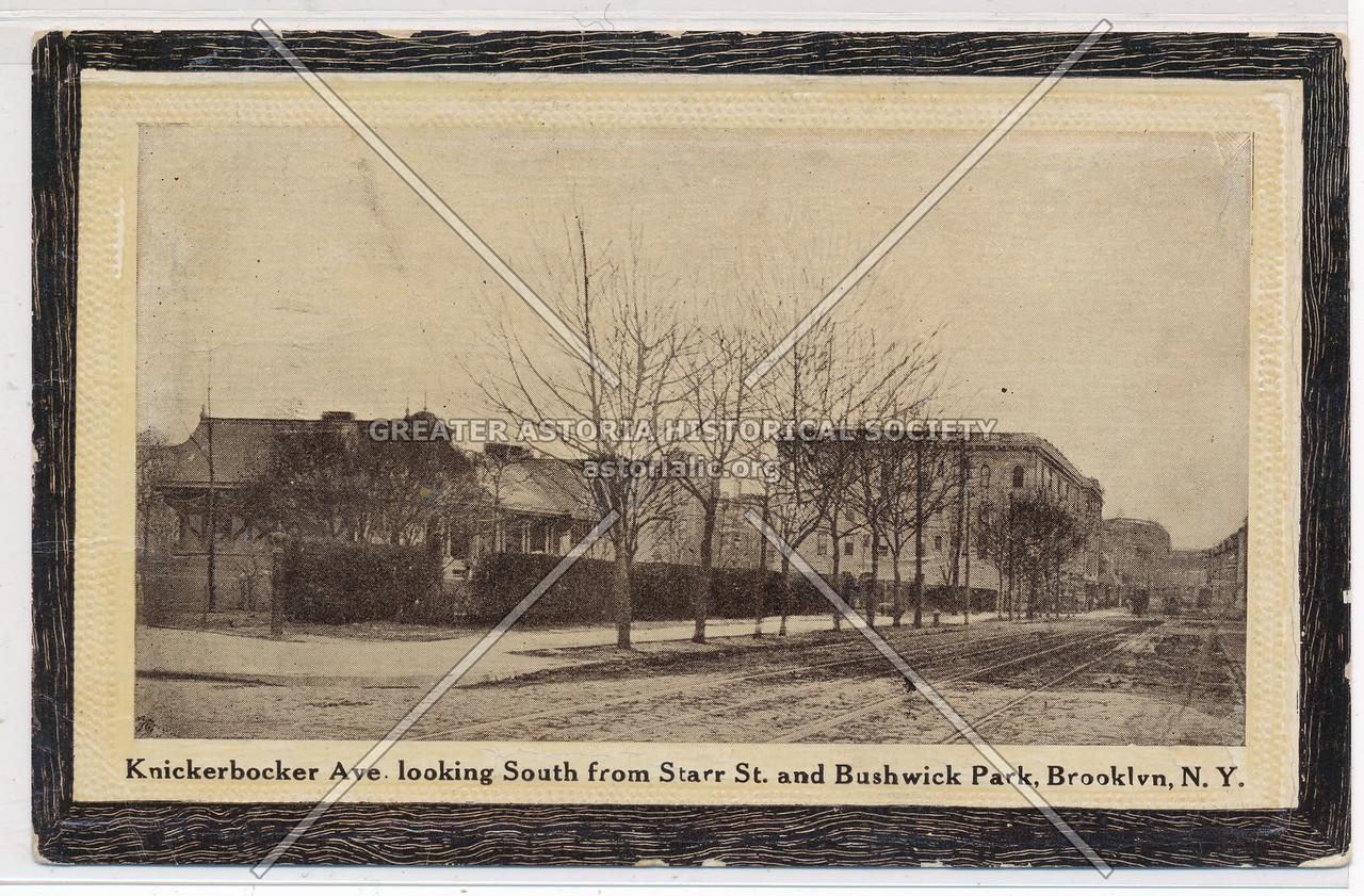 Knickerbocker Ave., looking South from Starr St. & Bushwick Park, BK.
