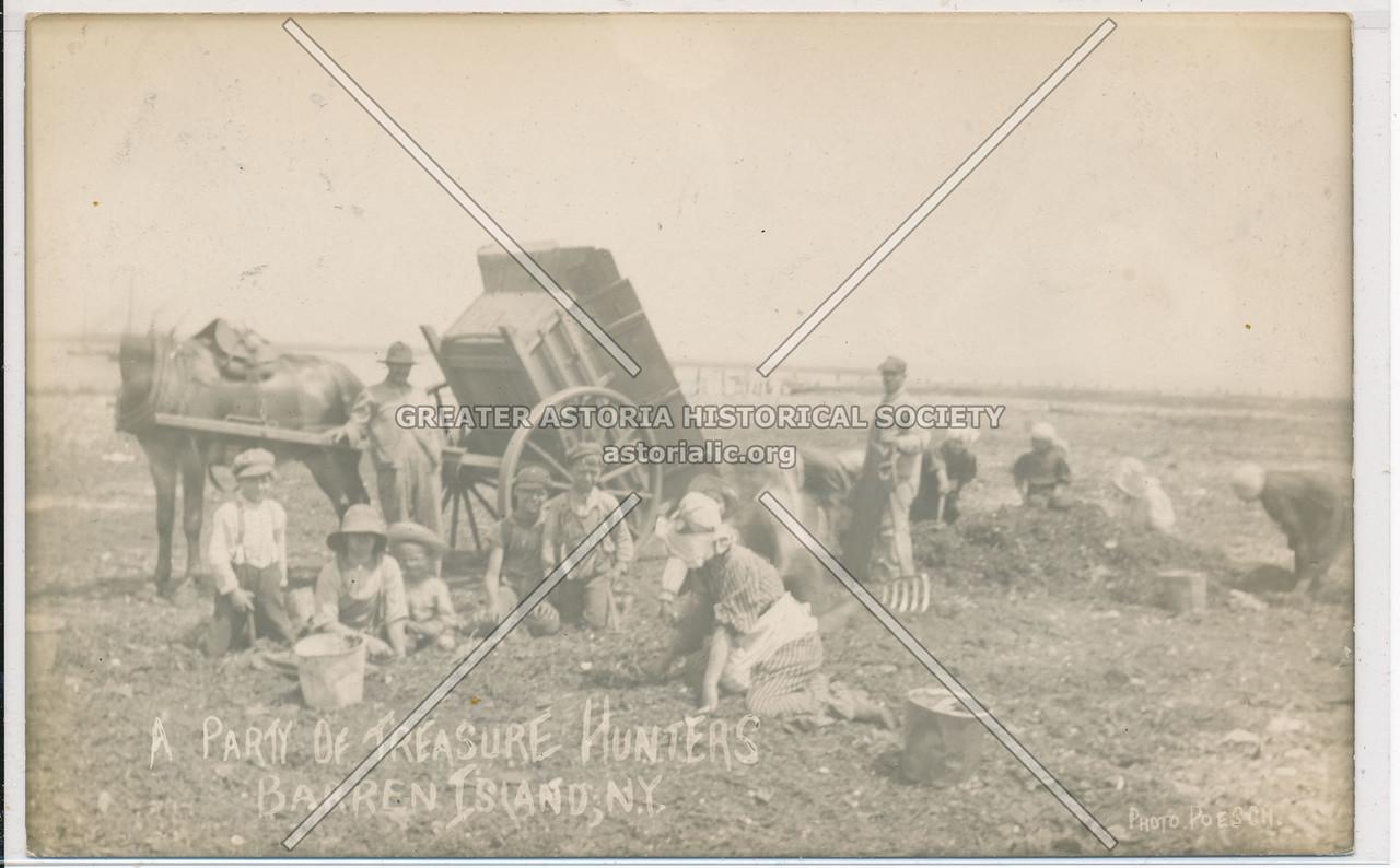 A Party of Treasure Hunters, Barren Island, BK.