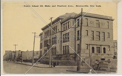 Public School 125, Blake & Thatford Ave., Brownsville, BK.