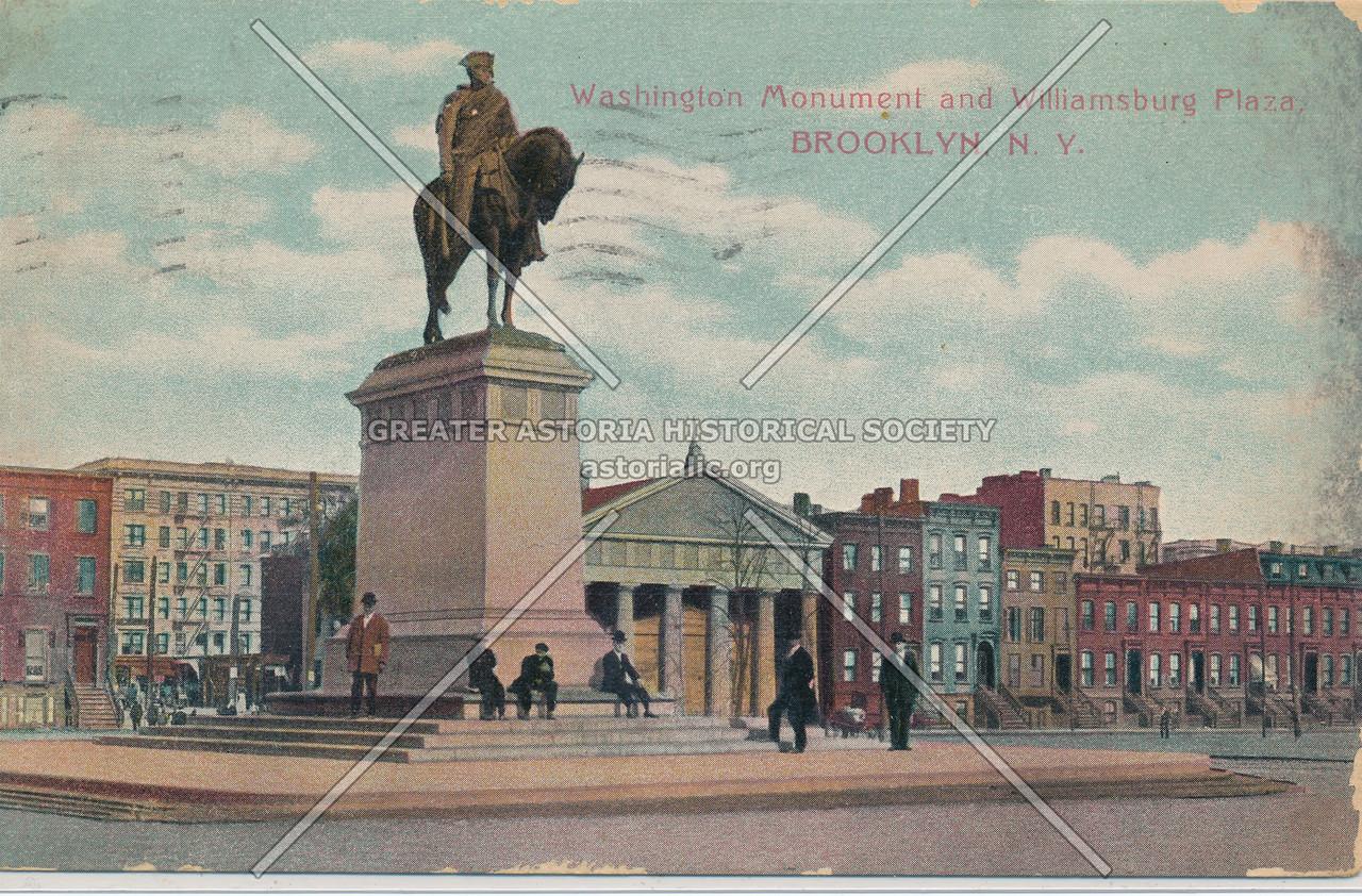 Washington Monument and Williamsburg Plaza, Brooklyn, N.Y.