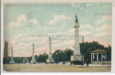 Water Tower & Entrance to Prospect Park, Bklyn