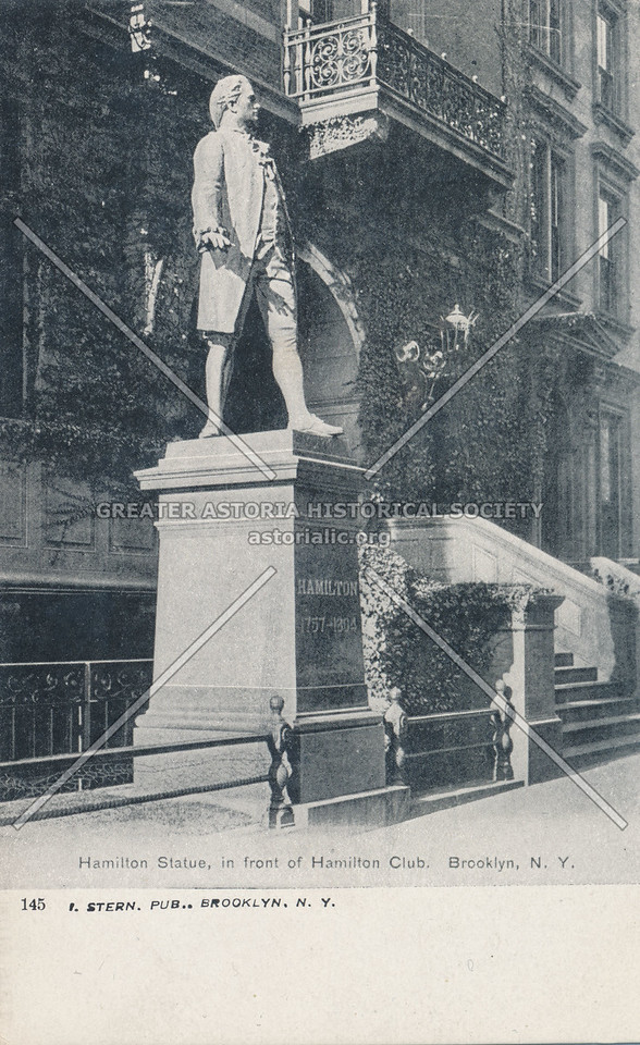 Hamilton Statue, in front of Hamilton Club, Brooklyn, N.Y.