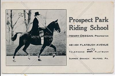 Prospect Park Riding School, 481 Flatbush Ave, Bklyn.