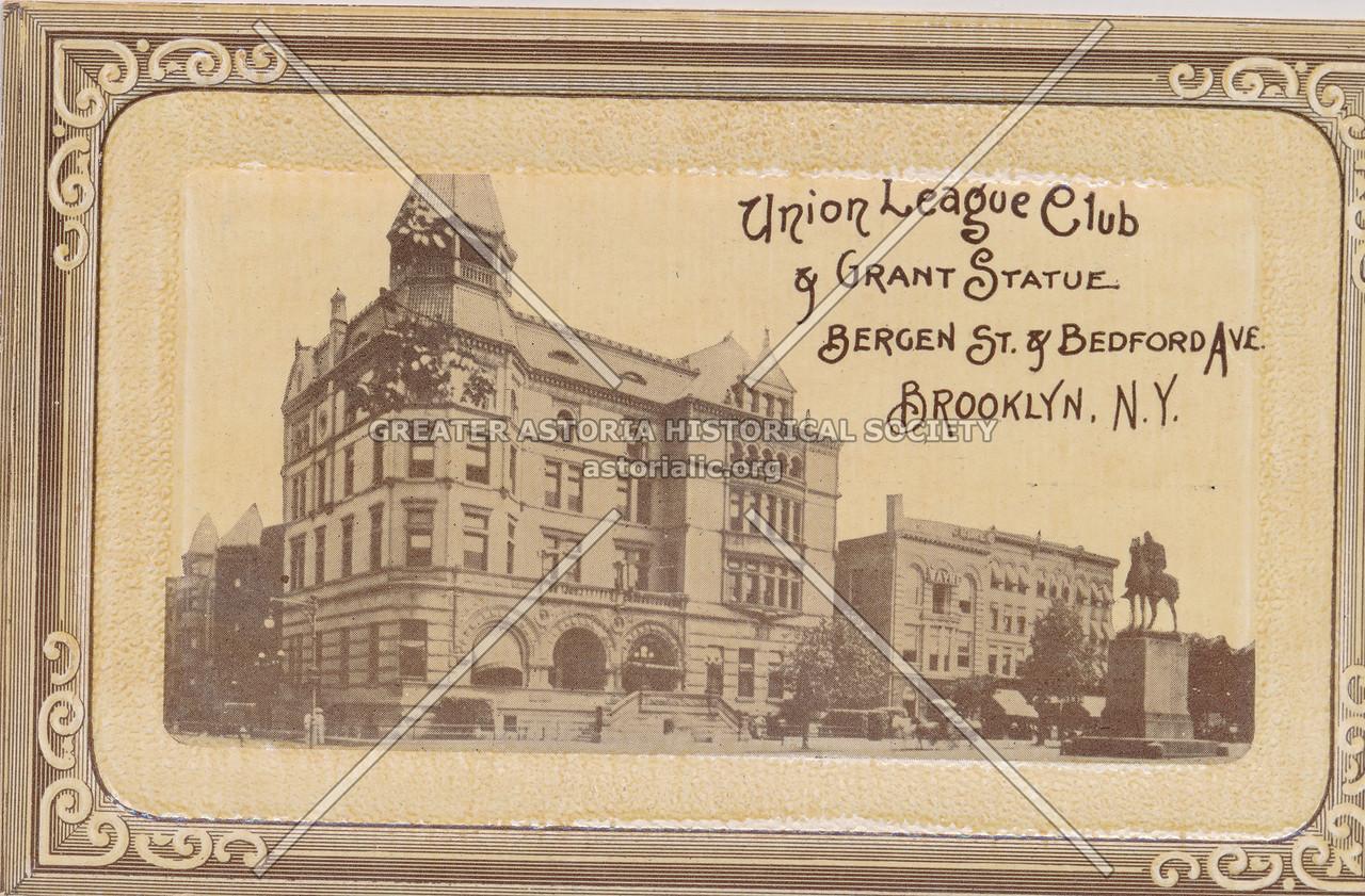 Union League Club & Grant Statue, Bergen St. & Bedford Ave., Brooklyn, N.Y.