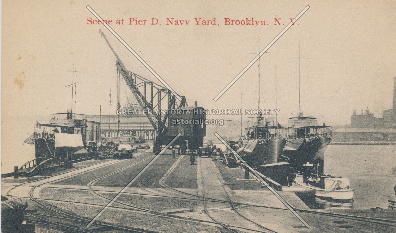 Scene at Pier D. Navy Yard, Brooklyn, N.Y.