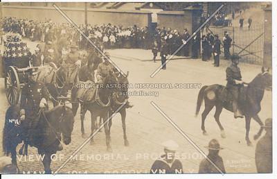 View Of Memorial Procession, May 11, 1914, Brooklyn, N.Y.
