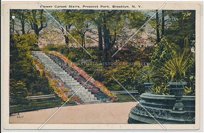 Flower Carpet Stairs, Prospect Park, Bklyn