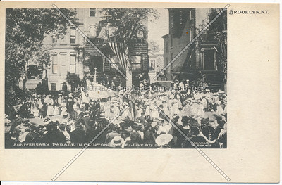 Anniversary Parade on Clinton Ave., BK. June 8th, 1905, Bklyn