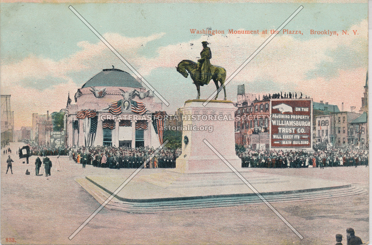 Washington Monument at the Plazza, Brooklyn, N.Y.
