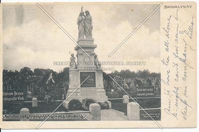 Monument in Lutheran Cemetery Gen Slocum, Brklyn.