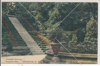 Carpeted Stairway, Prospect Park, Bklyn