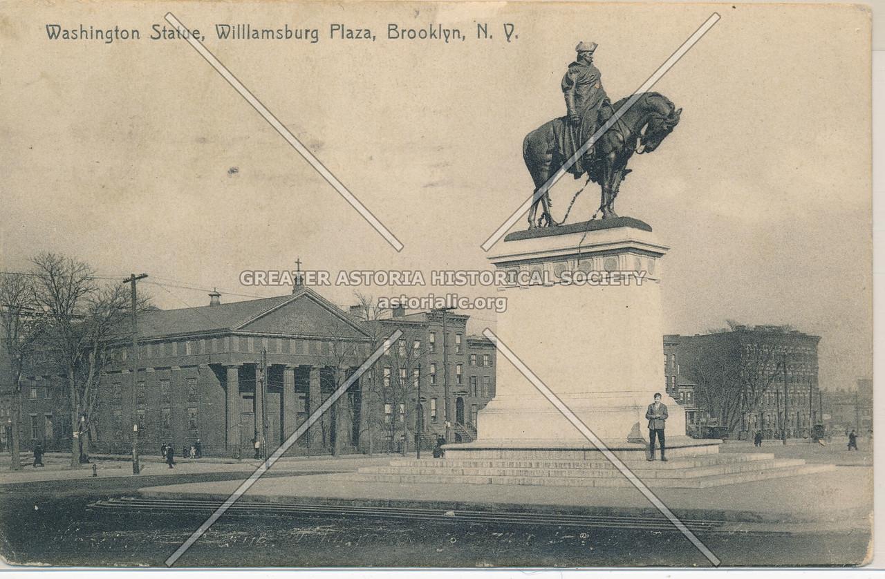 Washington Statue, Williamsburg Plaza, Brooklyn, N.Y.