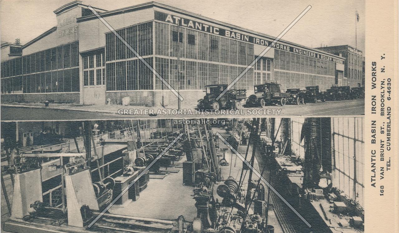 Atlantic Basin Iron Works 168 Van Brunt St. Bklyn
