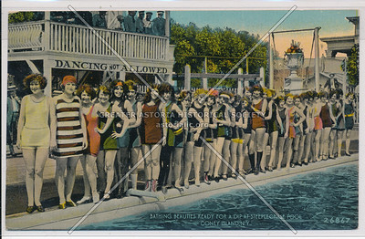 Bathing Beauties Ready for a Dip at Steeplechase Pool, Coney Island, N.Y.