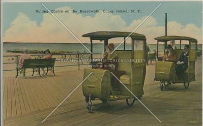 Rolling Chairs on the Boardwalk, Coney Island, N.Y.