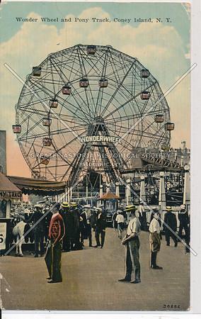 Wonder Wheel and Pony Track, Coney Island, N.Y.