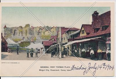 General View Tozman Plaza, Midget City, Coney Island