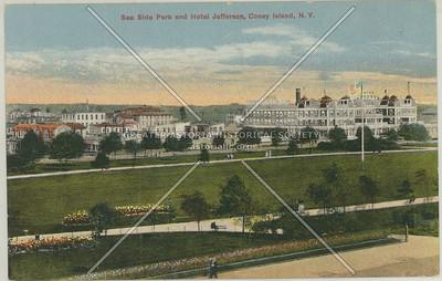 Sea Side Park and Hotel Jefferson, Coney Island, N.Y.