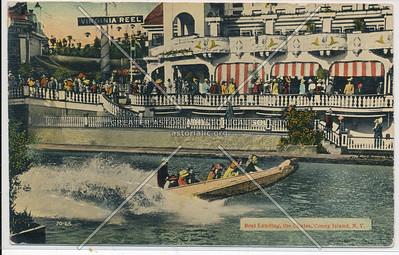 Boat Landing, the Chutes, Coney Island, N.Y.