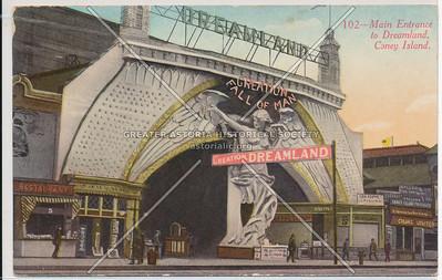 Main Entrance to Dreamland, Coney Island, N.Y.