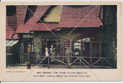 Mrs. General Tom Thumb (Countess Magre) and Count Mare's residence, Midget City, Dreamland, Coney Island