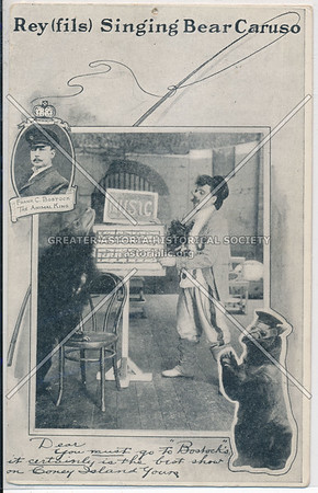 Rey(fils) Singing Bear Caruso, Bostock's, Coney Island, N.Y.