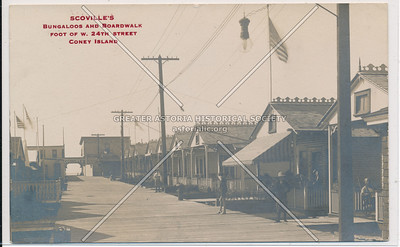 Scoville's, Bungaloos and Boardwalk, foot of W. 24th Street, Coney Island, N.Y.