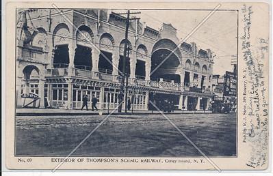 Exterior of Thompson's Scenic Railway, Coney Island, N.Y.