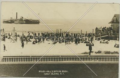 Raven Hall's Bathing Beach, Coney Island, N.Y.