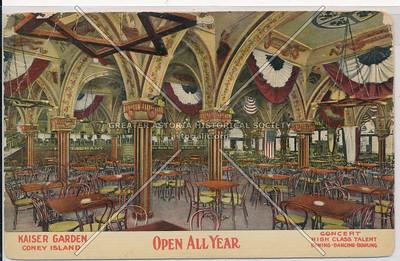 Kaiser Garden, Coney Island, Open All Year