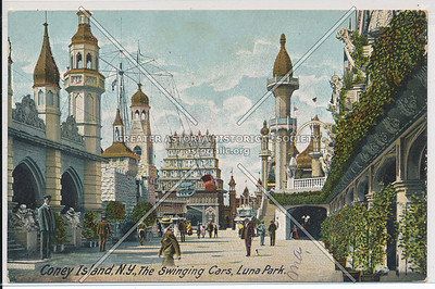 Coney Island, N.Y., The Swinging Cars, Luna Park