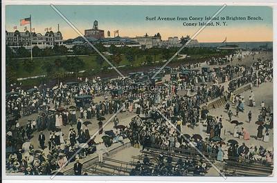 Surf Avenue from Coney Island to Brighton Beach, Coney Island, N.Y.