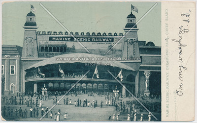 Marine Scenic Railway, Dreamland Park, Coney Island