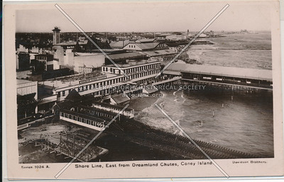 Shore Line, East from Dreamland Chutes, Coney Island