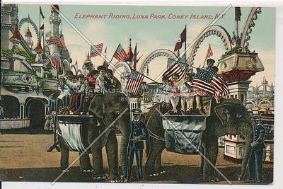 Elephant Riding, Luna Park, Coney Island, N.Y.