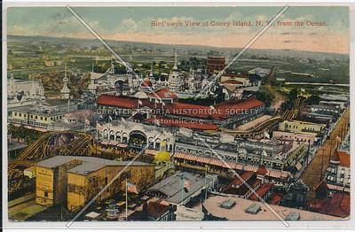 Bird's-eye View of Coney Island, N.Y., from the Ocean