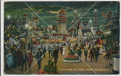 Luna Park By Night, Coney Island, N.Y.