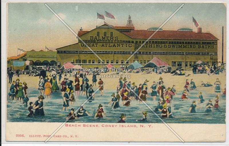 Beach Scene, Coney Island, N.Y.