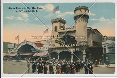 Rocky Road and Ben Hur Race, Coney Island, N.Y.