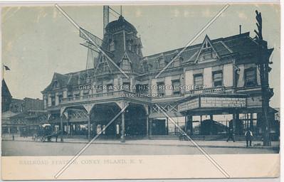 Railroad Station, Coney Island, N.Y.