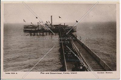Pier and Steam-boat, Coney Island